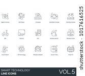 smart technology line icons.... | Shutterstock .eps vector #1017616525