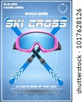 poster template of winter games ... | Shutterstock .eps vector #1017628126