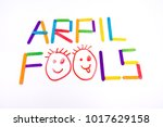 april fools  background with... | Shutterstock . vector #1017629158