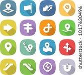 flat vector icon set   pointer... | Shutterstock .eps vector #1017630496