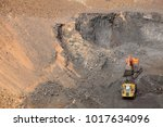 open pit manganese mining and... | Shutterstock . vector #1017634096