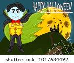 vampire for happy halloween...   Shutterstock .eps vector #1017634492