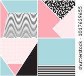 seamless geometric pattern.... | Shutterstock .eps vector #1017639655