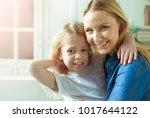 cheerful smiling beautiful...   Shutterstock . vector #1017644122