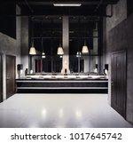 beautiful and modern interior... | Shutterstock . vector #1017645742