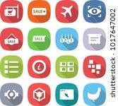 flat vector icon set   shop... | Shutterstock .eps vector #1017647002