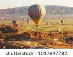 goreme  turkey   may 26th  2017 ... | Shutterstock . vector #1017647782