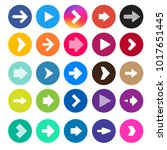 arrow set   collection of... | Shutterstock .eps vector #1017651445