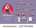 sexy secretary ready to use... | Shutterstock .eps vector #1017653686
