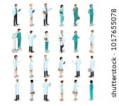 isometric flat style doctors... | Shutterstock .eps vector #1017655078