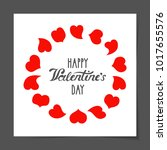 vector illustration  a greeting ... | Shutterstock .eps vector #1017655576