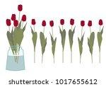 spring flower gift clip art....   Shutterstock .eps vector #1017655612