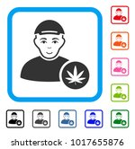 glad marihuana dealer vector... | Shutterstock .eps vector #1017655876