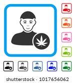 glad cannabis dealer vector... | Shutterstock .eps vector #1017656062
