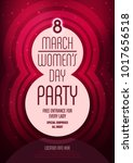 women's day party poster...   Shutterstock .eps vector #1017656518