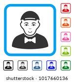 smiling gentleman vector... | Shutterstock .eps vector #1017660136