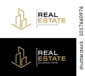 modern real estate logo... | Shutterstock .eps vector #1017660976