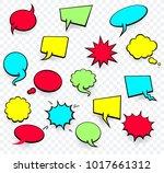 vector colored empty comic... | Shutterstock .eps vector #1017661312