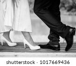 bride and bridal groom are... | Shutterstock . vector #1017669436