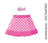 pink skirt vector illustration | Shutterstock .eps vector #1017669565