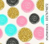 trendy vector seamless pattern... | Shutterstock . vector #1017674872