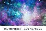 galaxy in space  beauty of... | Shutterstock . vector #1017675322