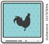 simple flat rooster icon. the... | Shutterstock .eps vector #1017678346