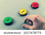 make decision yes no or maybe | Shutterstock . vector #1017678775