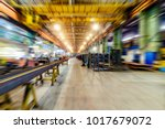 factory shop  view from floor... | Shutterstock . vector #1017679072