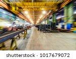 factory shop  view from floor... | Shutterstock . vector #1017679072
