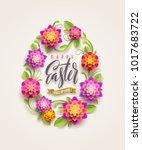 easter greeting card   easter... | Shutterstock .eps vector #1017683722