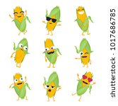 Funny Corn   Vector Isolated...