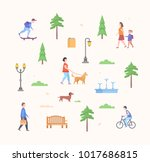 city park constructor   set of... | Shutterstock .eps vector #1017686815