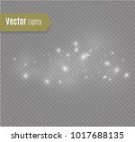 white sparks and stars glitter... | Shutterstock .eps vector #1017688135