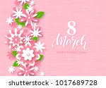 8 march happy women's day... | Shutterstock .eps vector #1017689728