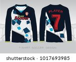 soccer jersey template. navy...   Shutterstock .eps vector #1017693985