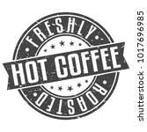 freshly hot coffee roasted... | Shutterstock .eps vector #1017696985
