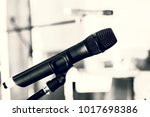 microphone for sound  music ... | Shutterstock . vector #1017698386