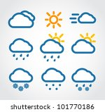 color weather conditon icons...