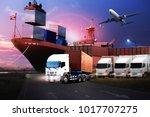 transportation  import export... | Shutterstock . vector #1017707275