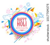 illustration of abstract happy... | Shutterstock .eps vector #1017709375