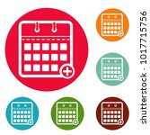 calendar deadline icons circle...