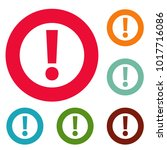 exclamation point icons circle... | Shutterstock .eps vector #1017716086