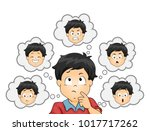 illustration of a kid boy... | Shutterstock .eps vector #1017717262
