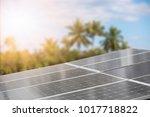 solar cell with sunlight    Shutterstock . vector #1017718822