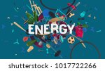 attractive 3d composition with... | Shutterstock . vector #1017722266