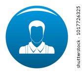 worker avatar icon vector blue...