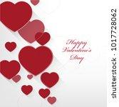 vector design heart background   Shutterstock .eps vector #1017728062