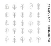 set of monochrome icons with... | Shutterstock .eps vector #1017729682