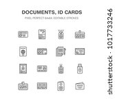 documents  identity vector flat ... | Shutterstock .eps vector #1017733246